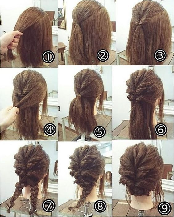 Latest Ideas de peinados paso a paso (Stylish Hair Bun Tutorial .