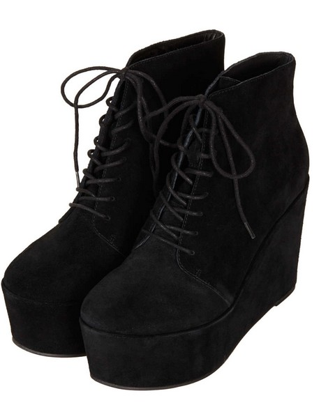 10 Stylish Lace up Wedge Boots for Winter and Spring - Pretty Desig