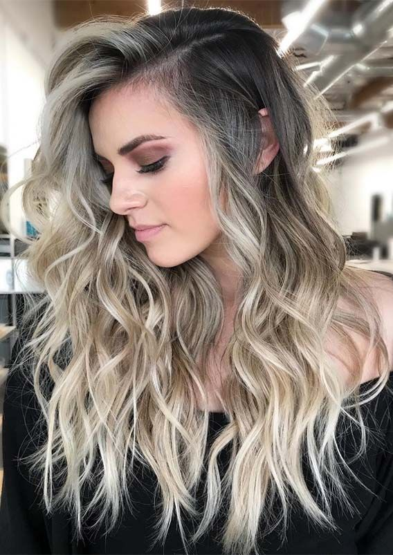 Fresh Blonde Balayage Long Wavy Hairstyles for 2019 | Haircuts for .