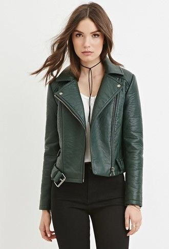 51 Classy And Casual Women Leather Jacket Outfits Ideas | Green .