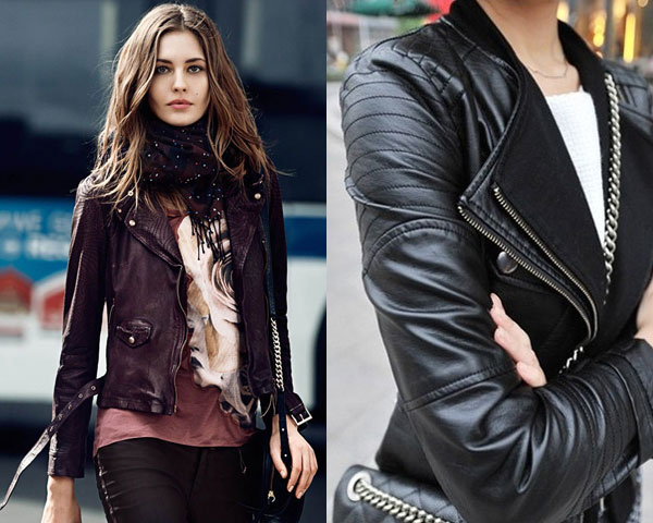 Different Variations in Leather Biker Jacket for Women - Leather .