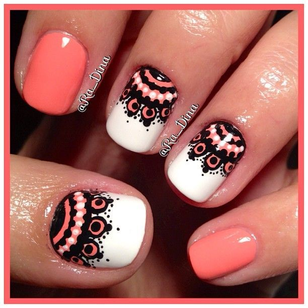 Stylish Nails to Pair Your Black and White Outfit | Spitzennägel .
