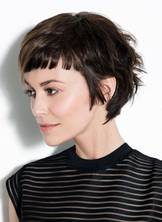 "Women Hairstyles for Short ""Baby"" Bangs - 2020 Haircut with Bangs ."