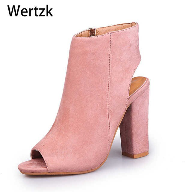 2018 Fashion Women's Spring Summer Open Toe Boots Casual Faux .