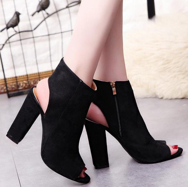 Fashion Women shoes Spring Summer Open Toe women Boots Casual Faux S