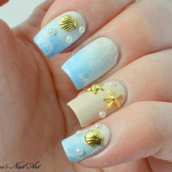 9 Lovely Summer Beach Nail Art Designs | Tropical Beach Nail Art .