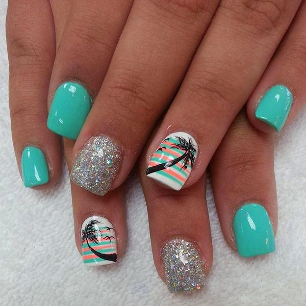 65 Lovely Summer Nail Art Ideas | Toe nails, Beach nails, Nai