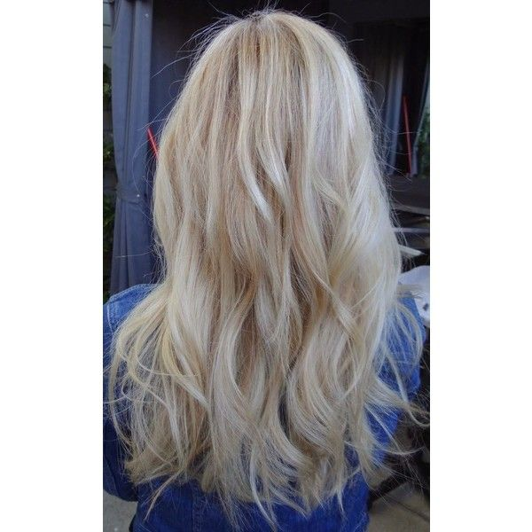 Summer Hair Color to Try Blonde ❤ liked on Polyvore featuring .