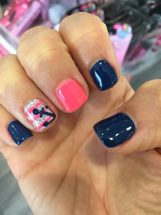 Summer Nail Designs to Have: Nautical   Nails