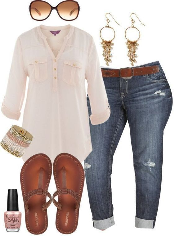 40 Best Polyvore Summer Outfit Ideas 2018 | Plus size outfits .
