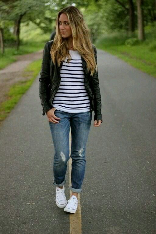 20 Super Casual Styles with Sneakers | Fashi