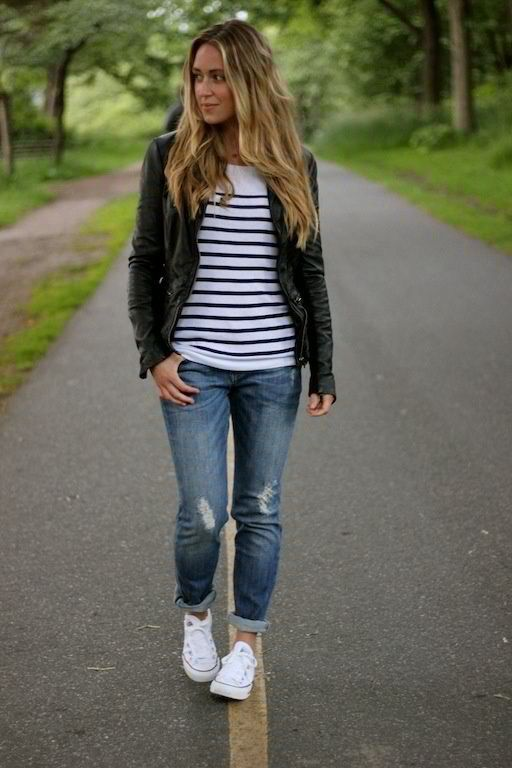 20 Super Casual Styles with Sneakers | Kleding, Kleding stijlen .