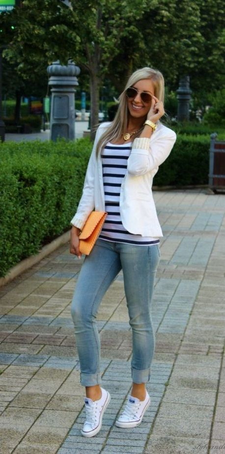20 Super Casual Styles with Sneakers | Wearing | Fashion, Outfits .