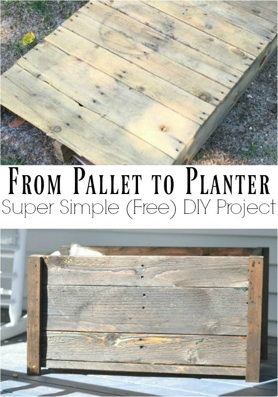 Quick and Easy DIY Planter Box | Scrap wood projects, Easy .