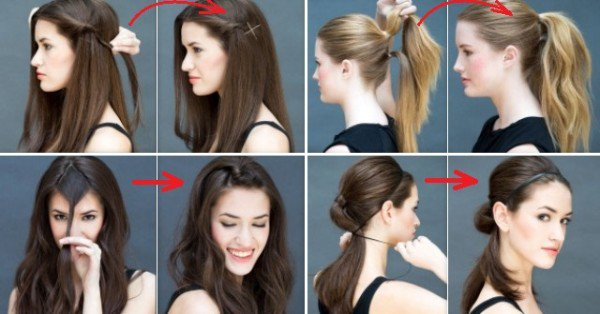 8 Super Easy Hairstyles You Can Do In Literally 10 Secon