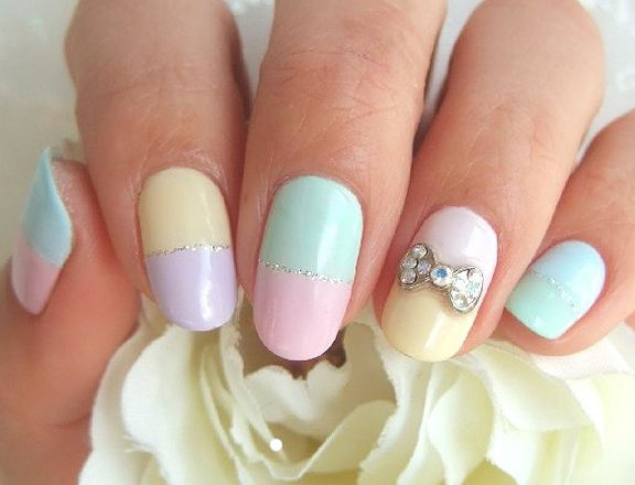 10 Super Easy Pastel Nail Art Designs For Prom | Pastel nail art .