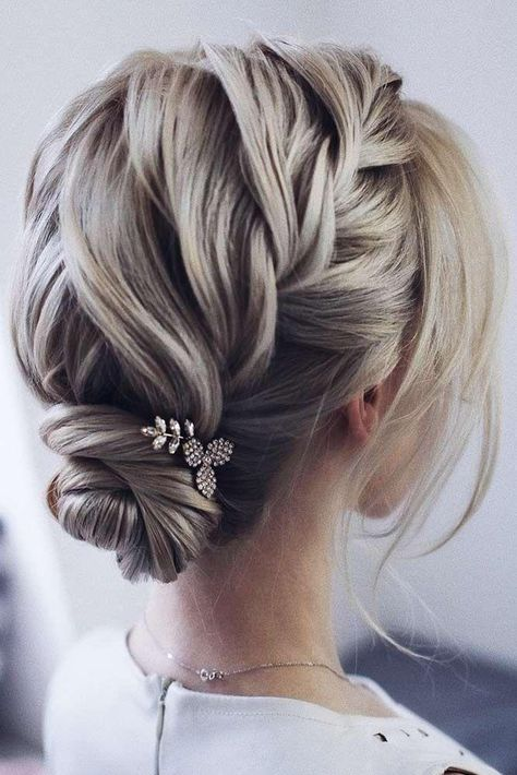 Sweet Braided Short Hairstyles # Braids # Short Hair # Bun #updo .