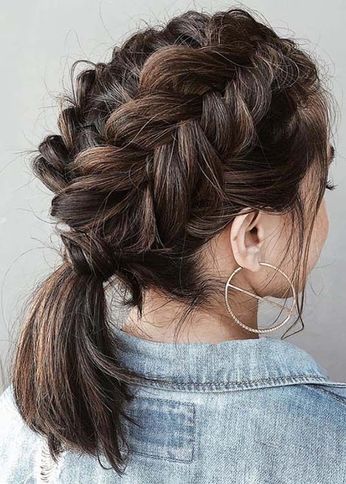 30 Best French Braid Short Hair Ideas 2019 | Short-Haircut.c