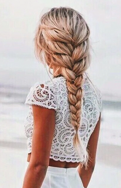 15 Sweet French Braids in 2020 | Braided hairstyles, French braid .