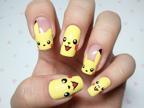 My sweet nail art, click through for tutorial (in my korean blog) .