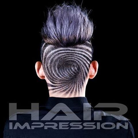 Hypnotic swirl. Cool … | Shaved hair desig