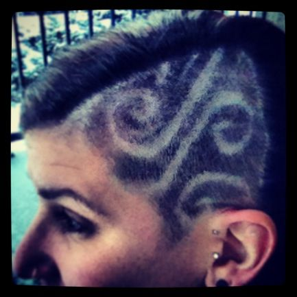My hair. Shaved head design Swirls | Shaved hair designs, Faded .