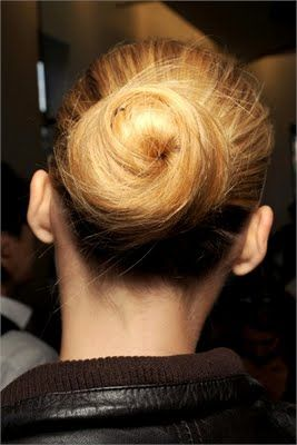 Swirl Chignon | Bun hairstyles, Hair styles, Stylish ha