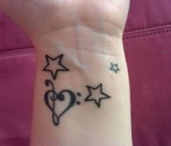 50 Eye-Catching Wrist Tattoo Ideas | Star tattoo on wrist, Wrist .