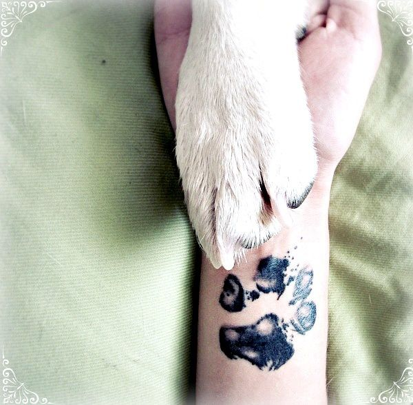 So Cute! Get A Tattoo of Your Beloved Dog | Paw print tattoo .