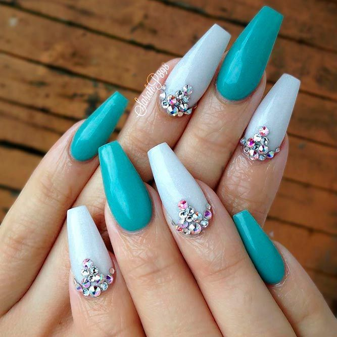 27 Teal Color Nails Designs You'll Fall In Love With | Nails .