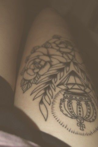 20 Thigh Tattoo Designs for Every Woman   Thigh tattoo designs .