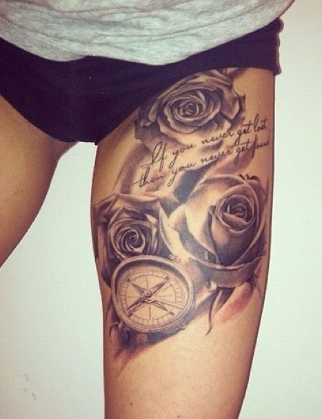 Thigh Tattoo Designs for Every Woman