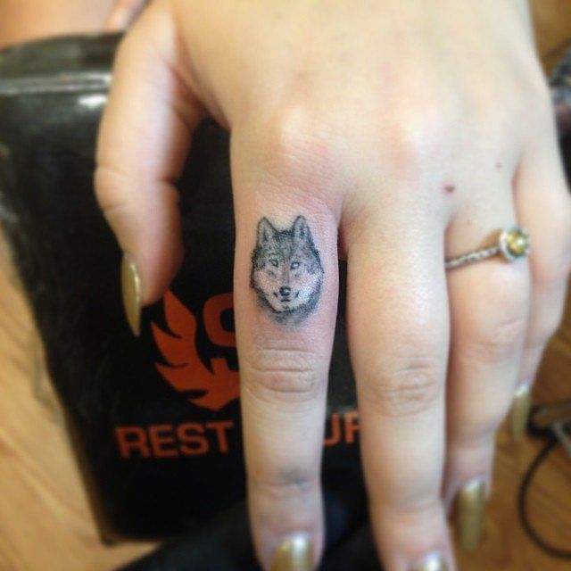 102 Small Tattoo Ideas For Your First Ink | Small wolf tattoo .