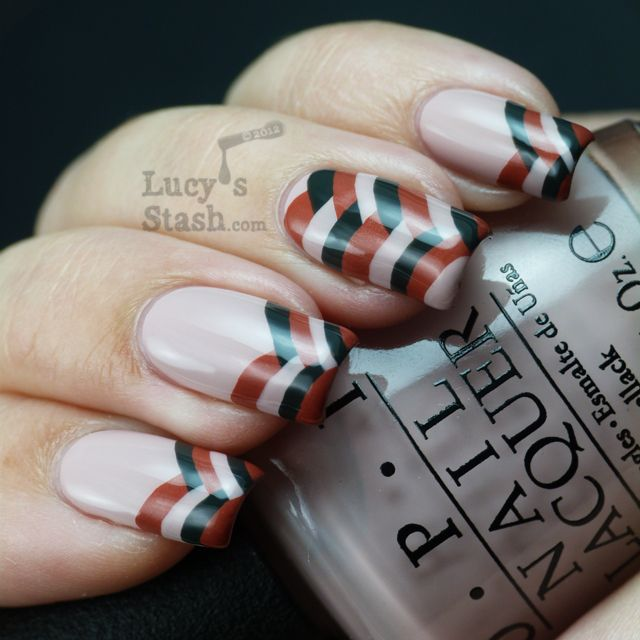 Lucy's Stash - Fishtail braid french tip | Diy nail designs .