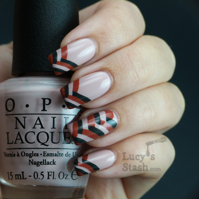 Fishtail braid french tip nails with OPI Germany shades - Lucy's Sta