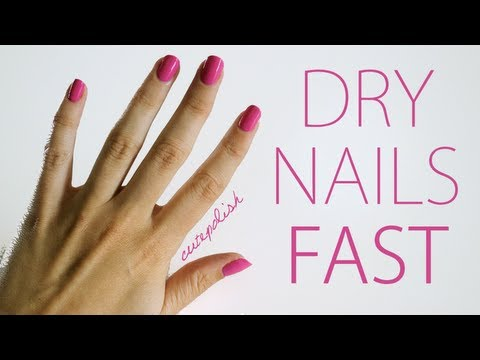 5 Ways To Dry Your Nails Fast! - YouTu