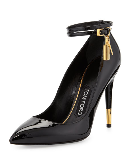 Tom Ford Padlock Ankle-Wrap Leather Pu