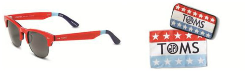Cool collaboration: Toms x Jonathan Adler eyewear launches today .