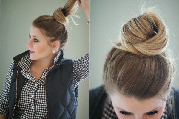 Two-Minute Top Knot Tutorial | Coffee Beans and Bobby Pi