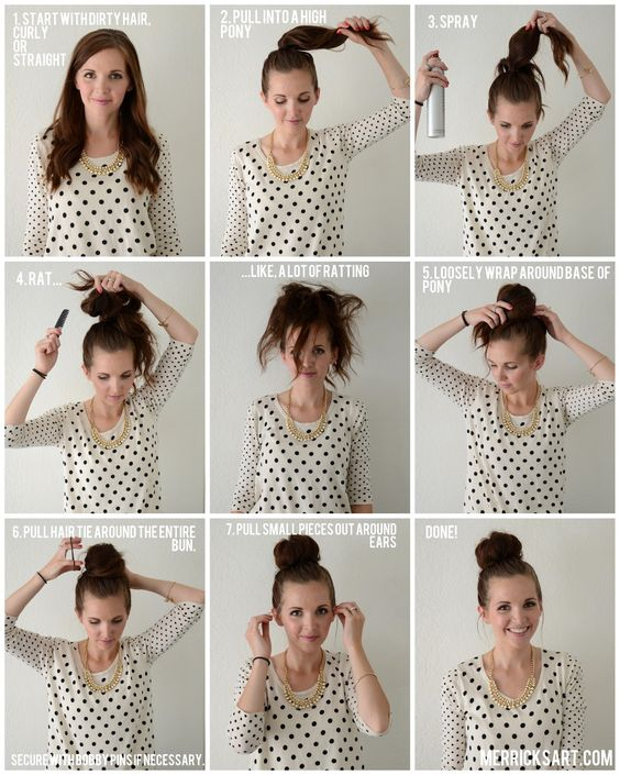 Top Bun Tutorials to Pair Your Turtleneck   Sweater