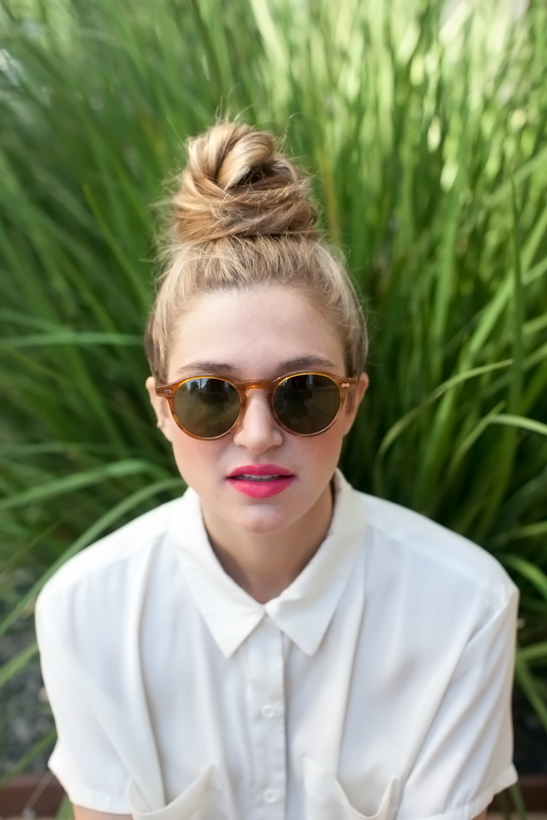 The Perfectly Messy Top Knot - Camille Styl