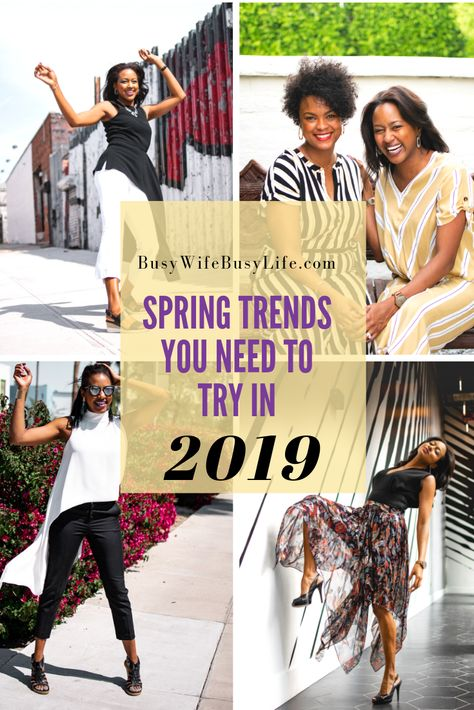 5 Spring Trends You Need to Try in 2019 | Spring fashion trends .