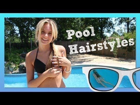 Pool Hairstyles | Beach Hairstyles | How to Make a Top Knot Messy .