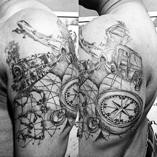Top 77 Travel Tattoo Ideas [2020 Inspiration Guid