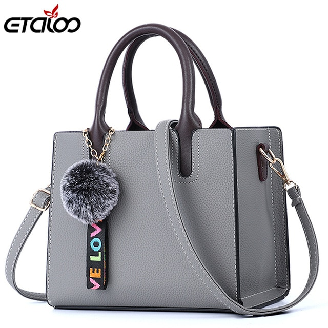Female Bags Casual Tote 2019 Trendy Fashion PU Leather Handbag .