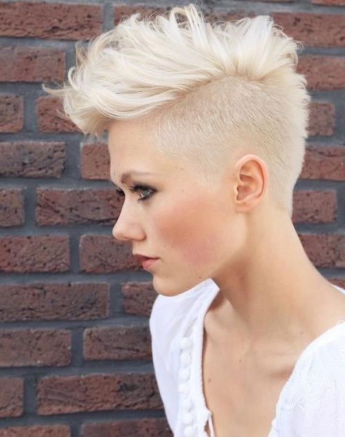 70 Most Gorgeous Mohawk Hairstyles of Nowadays | Platinum blonde .