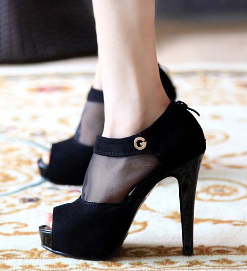 New Peep Toe Pumps for Summer - Trendy Fish Head Style High Heels .