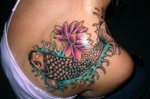 Koi Fish Tattoo Designs | Shoulder tattoos for wom