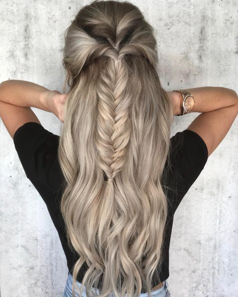 39 Trendy + Messy & Chic Braided Hairstyles | Fishtail braided .