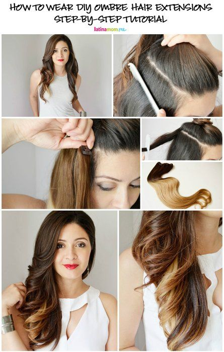 Get The Look: Ombre Hair Extensions | Ombre hair extensions, Human .